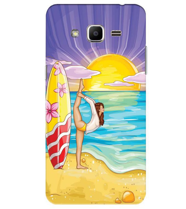 Sunrise with Yoga Back Cover for Samsung Galaxy J2 Ace