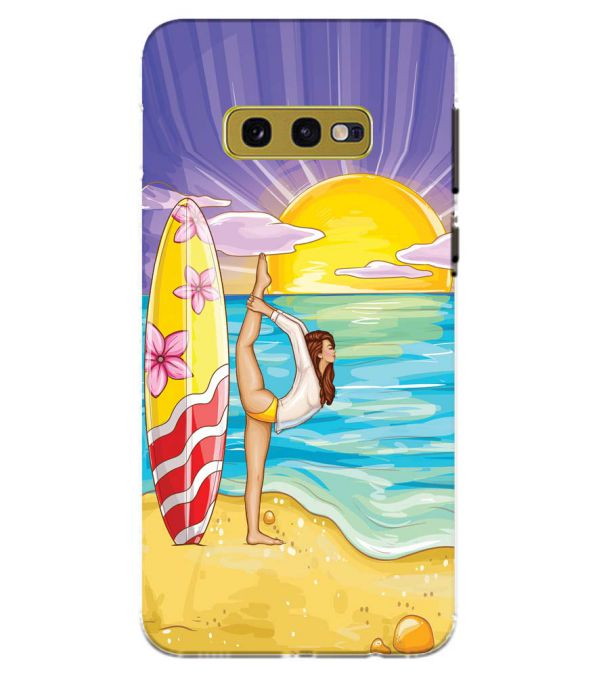 Sunrise with Yoga Back Cover for Samsung Galaxy S10e (5.8 Inch Screen)
