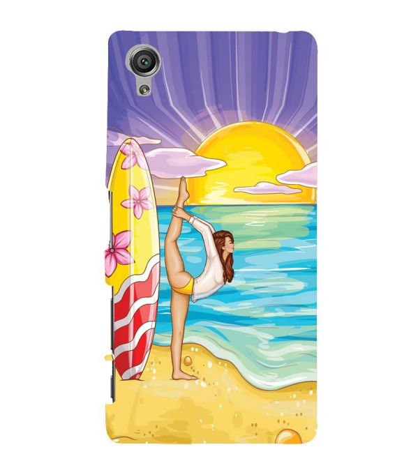 Sunrise with Yoga Back Cover for Sony Xperia X