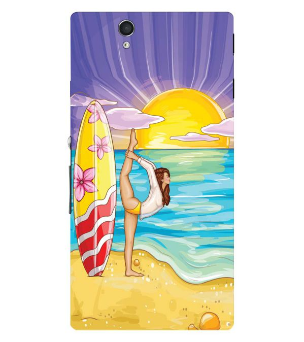 Sunrise with Yoga Back Cover for Sony Xperia Z