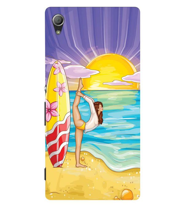 Sunrise with Yoga Back Cover for Sony Xperia Z3+ and Xperia Z4