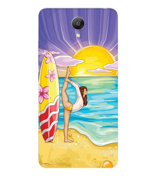 Sunrise with Yoga Back Cover for Xiaomi Redmi Note 2