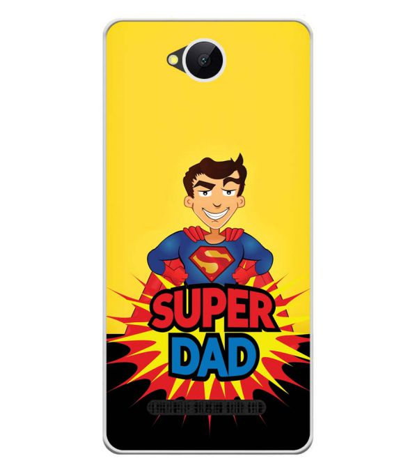 Super Dad Soft Silicone Back Cover for Karbonn A45 Indian