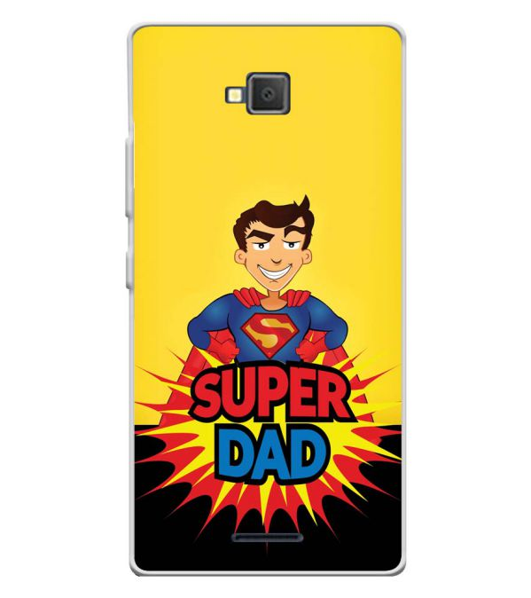 Super Dad Soft Silicone Back Cover for Lava A82