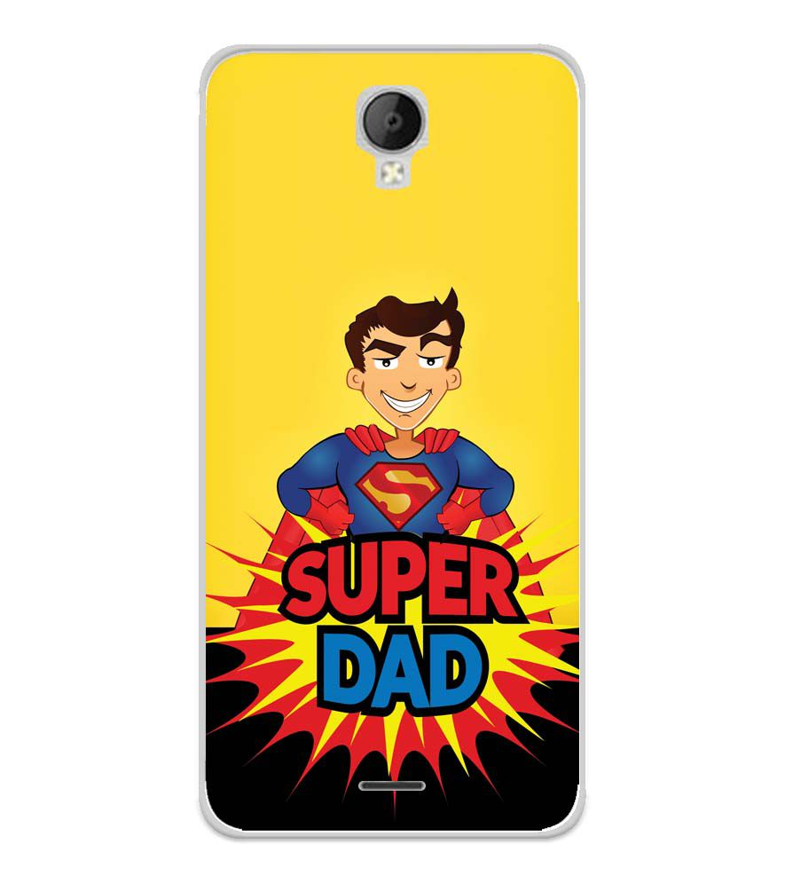 Super Dad Soft Silicone Back Cover for Micromax Spark Go