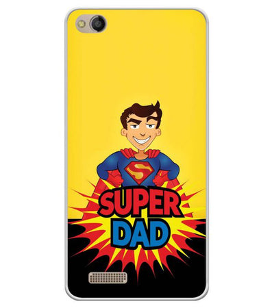 Super Dad Soft Silicone Back Cover for Mobistar CQ Dual