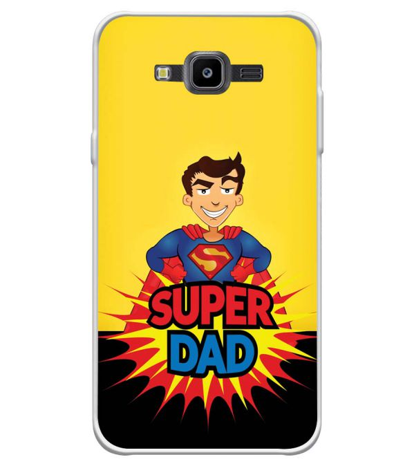 Super Dad Soft Silicone Back Cover for Samsung Galaxy J7 Nxt
