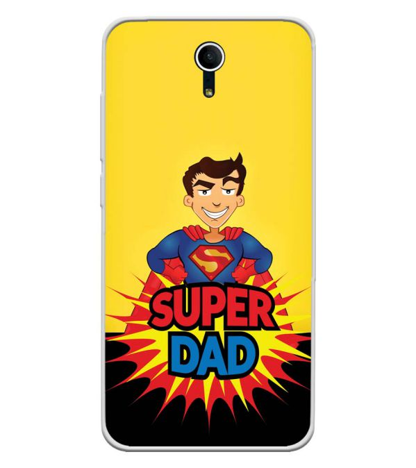 Super Dad Soft Silicone Back Cover for Swipe Elite Plus