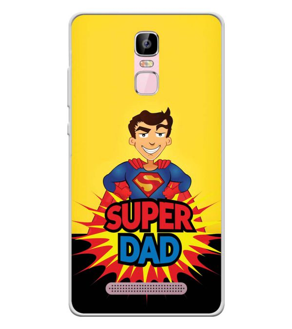 Super Dad Soft Silicone Back Cover for Zen Admire Sense Plus