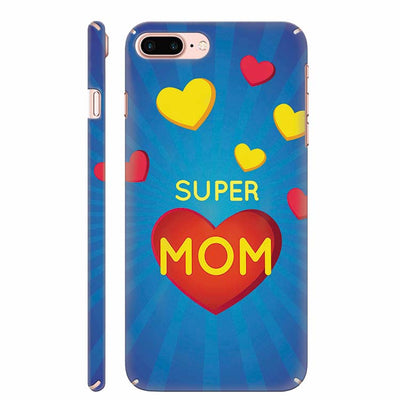Super Mom with Big Heart Back Cover for Apple iPhone 8 Plus