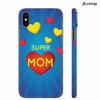 Super Mom with Big Heart Back Cover for Apple iPhone X