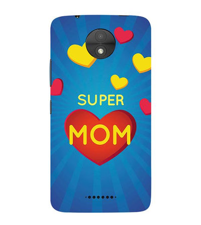 Super Mom with Big Heart Back Cover for Motorola Moto C