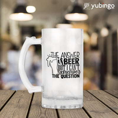 The Answer is Beer Beer Mug-Image3
