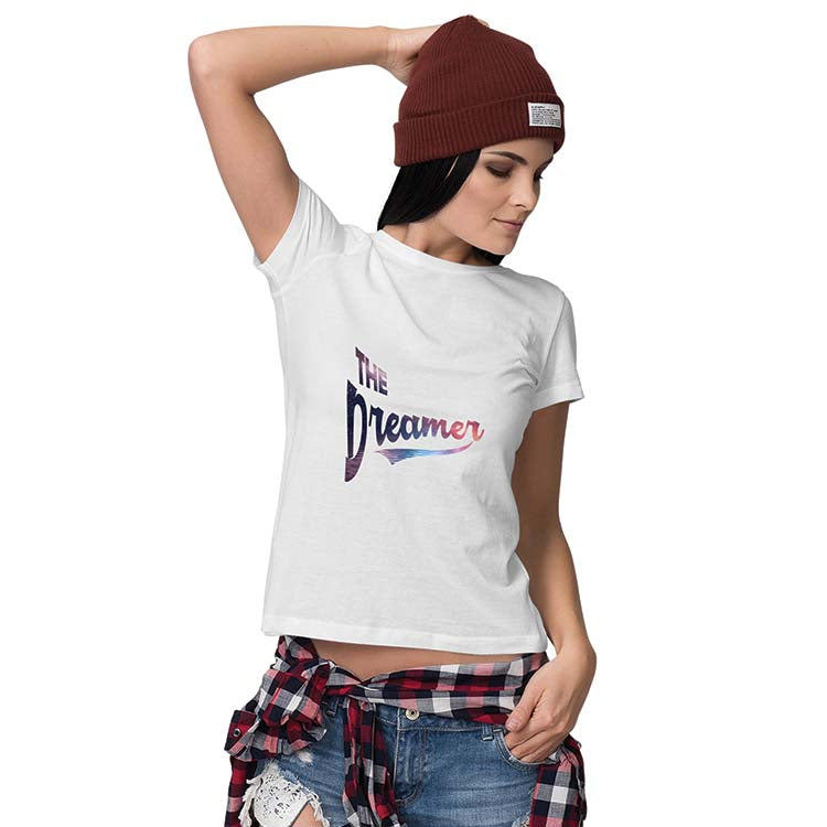 The Dreamer Women T-Shirt-White