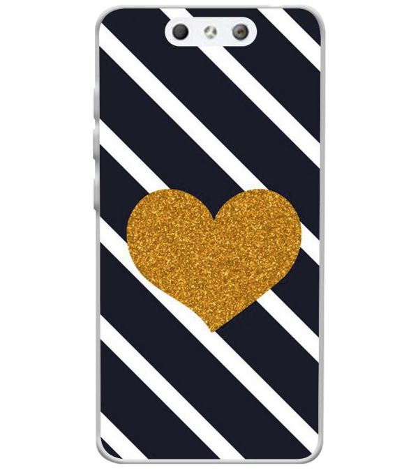 new style a9144 53875 The Heart Soft Silicone Back Cover for LYF Earth 1