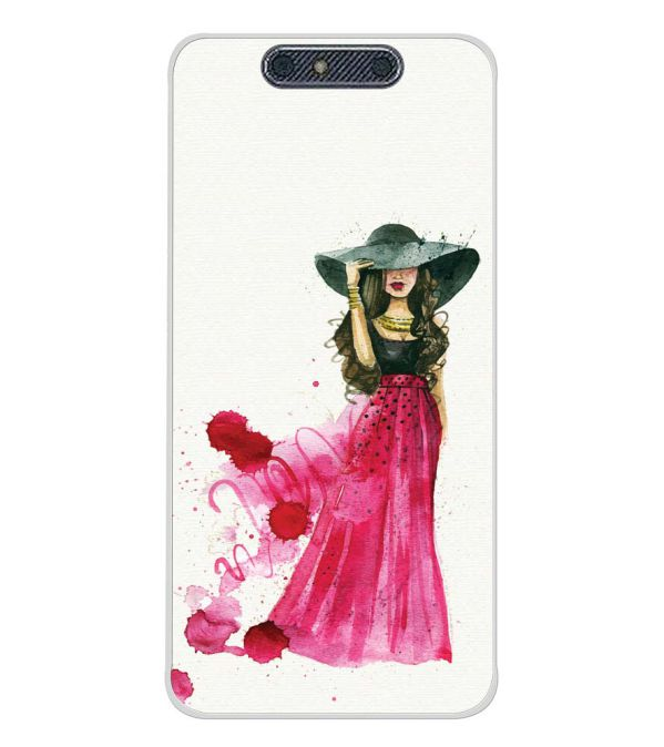 The Lady Back Cover for Micromax Dual 4 E4816-Image3