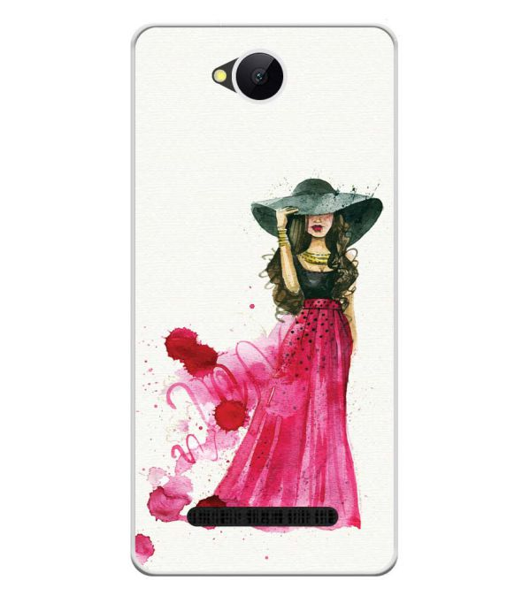 The Lady Soft Silicone Back Cover for Karbonn A45 Indian