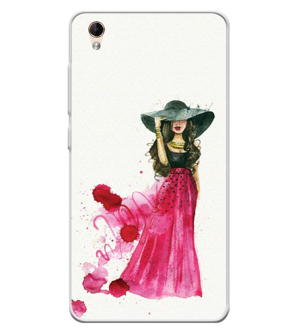 The Lady Soft Silicone Back Cover for Lava Z60