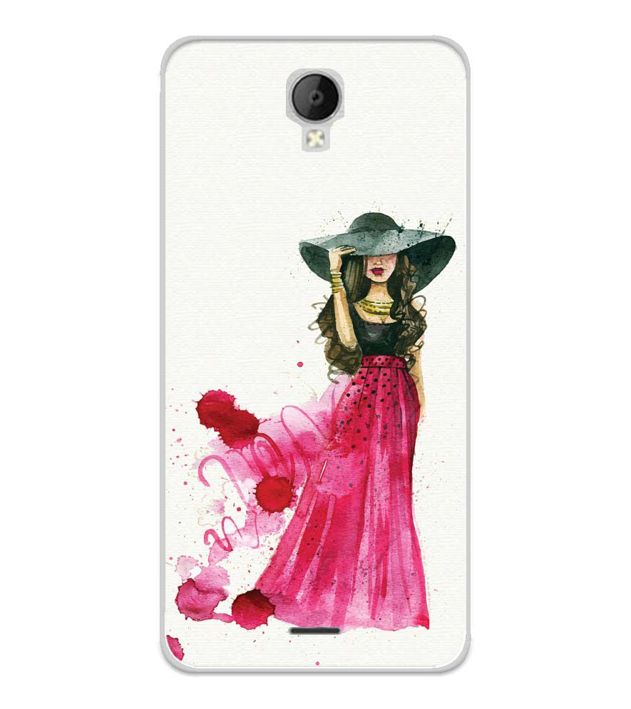 The Lady Soft Silicone Back Cover for Micromax Spark Go
