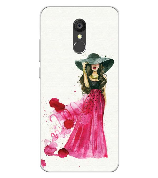 The Lady Soft Silicone Back Cover for Panasonic Eluga Ray 550