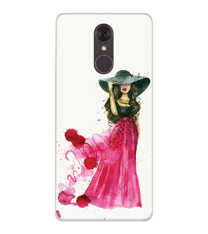 The Lady Soft Silicone Back Cover for Spice F311