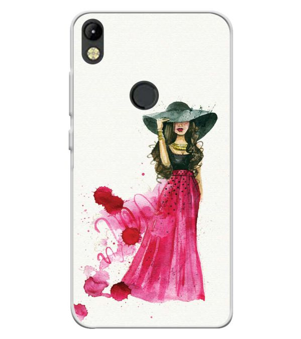 The Lady Soft Silicone Back Cover for Tecno Camon I