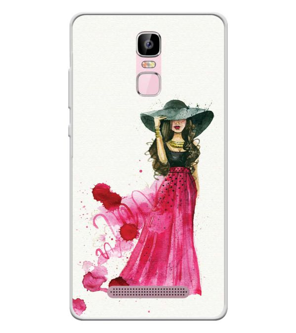 The Lady Soft Silicone Back Cover for Zen Admire Sense Plus