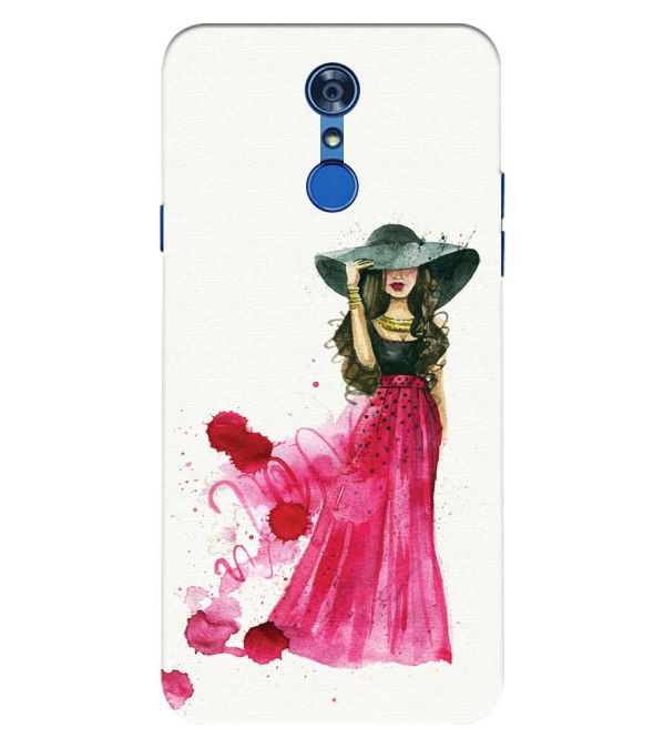 The Lady Back Cover for LG Q7