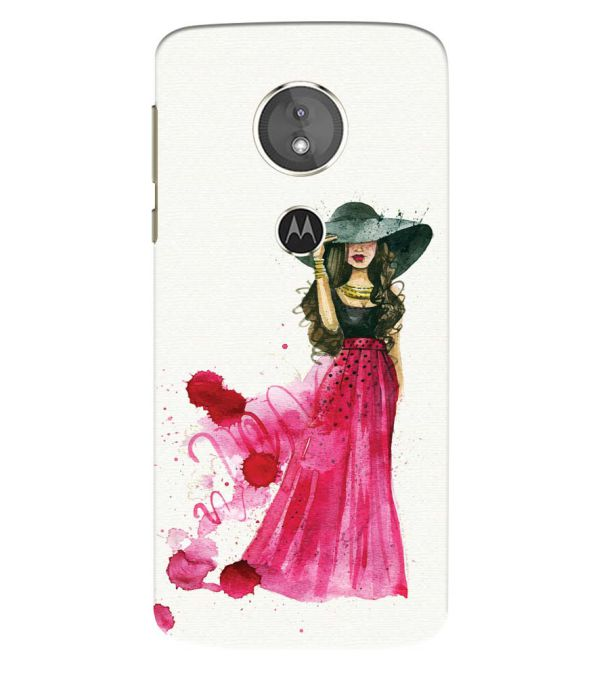 The Lady Back Cover for Motorola Moto E5 Play