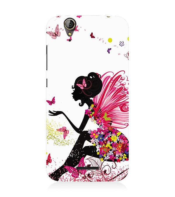 The Pixie With Her Butterflies Back Cover for Acer Liquid Zade 630