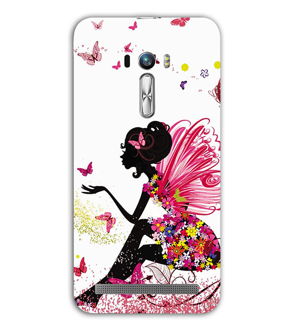 The Pixie With Her Butterflies Back Cover for Asus Zenfone Selfie