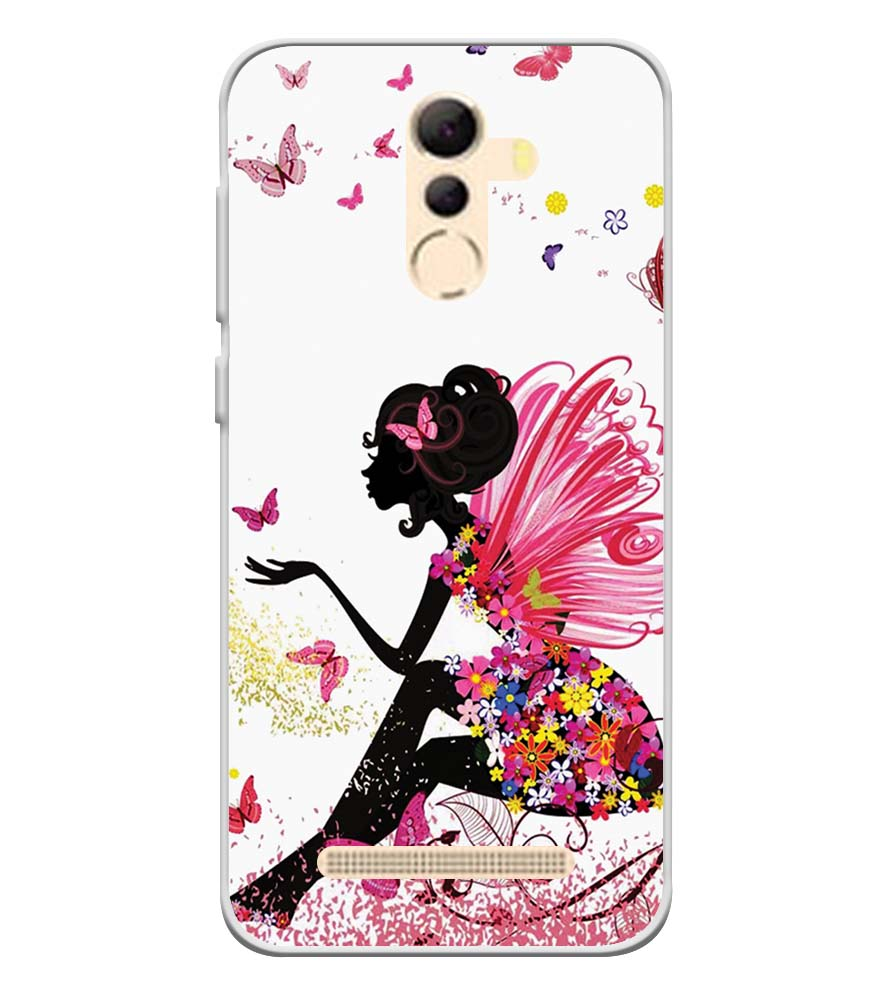 The Pixie With Her Butterflies Soft Silicone Back Cover for Coolpad Mega 5A