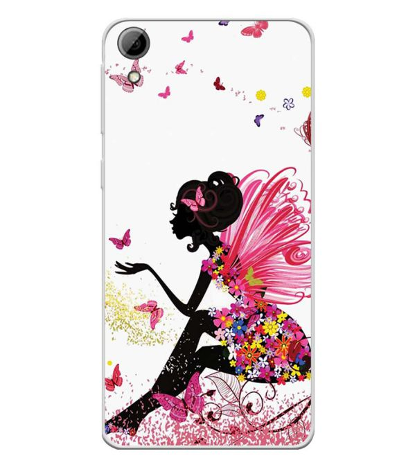 huge discount 8f58a 03083 The Pixie With Her Butterflies Soft Silicone Back Cover for HTC Desire 826