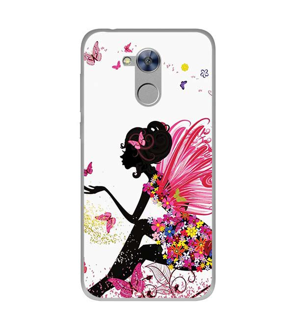 The Pixie With Her Butterflies Soft Silicone Back Cover for Huawei Honor Holly 4 Plus