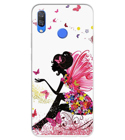 The Pixie With Her Butterflies Soft Silicone Back Cover for Huawei Y9 (2019)