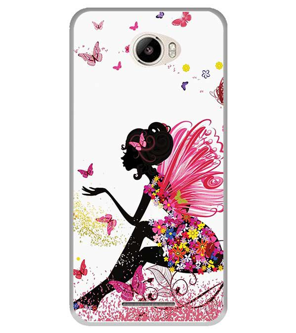 The Pixie With Her Butterflies Back Cover for Intex Intx Trend Lite