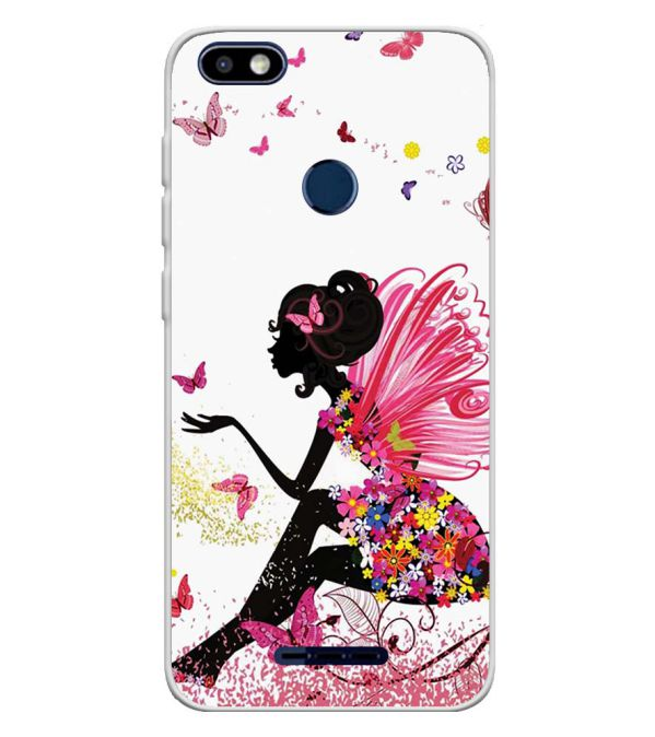 The Pixie With Her Butterflies Soft Silicone Back Cover for Lava Z91