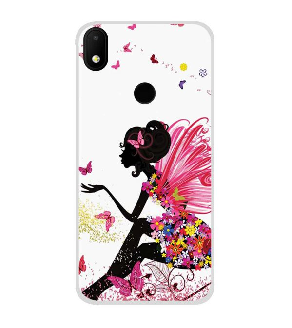 sports shoes cd5be 97963 The Pixie With Her Butterflies Soft Silicone Back Cover for Micromax Canvas  2 2018