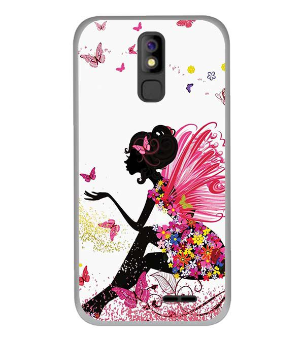The Pixie With Her Butterflies Back Cover for Panasonic P100