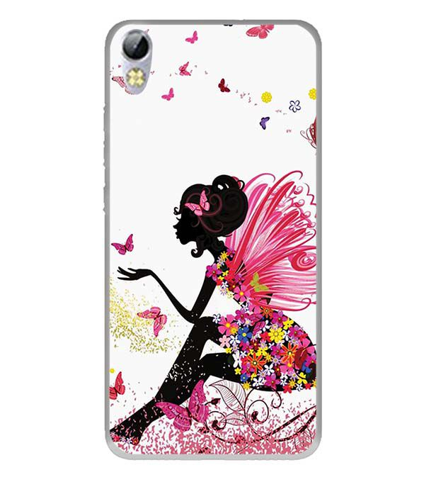 The Pixie With Her Butterflies Back Cover for Tecno I3 Pro