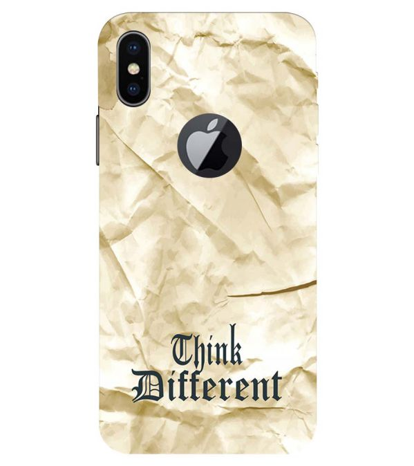 best service 37434 3d681 Think Different Back Cover for Apple iPhone X (Logo)