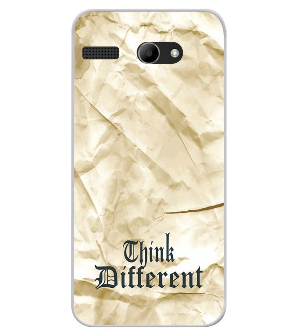 Think Different Soft Silicone Back Cover for Lava Iris Atom X