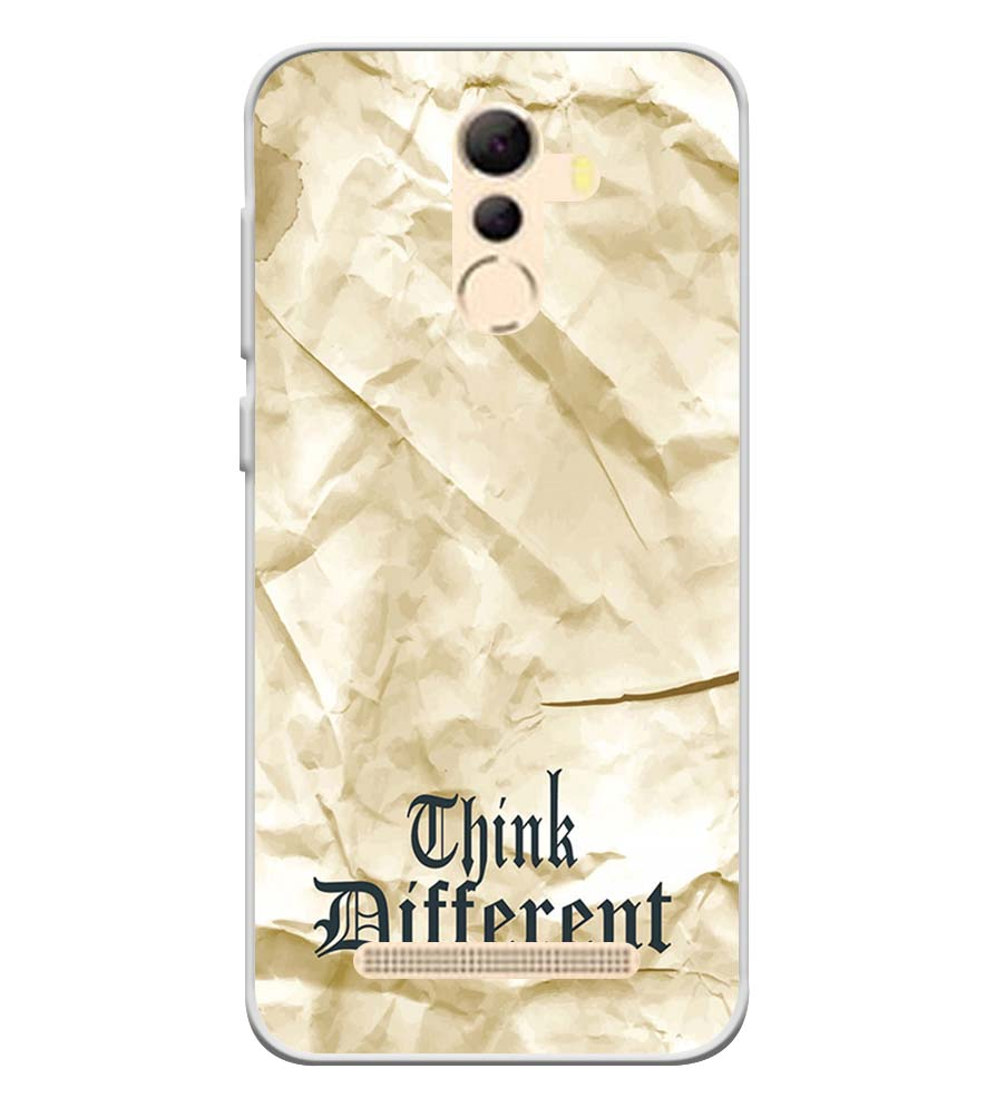 Think Different Soft Silicone Back Cover for Coolpad Mega 5A