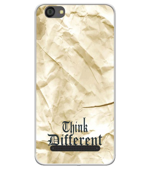 Think Different Soft Silicone Back Cover for LYF Flame 5