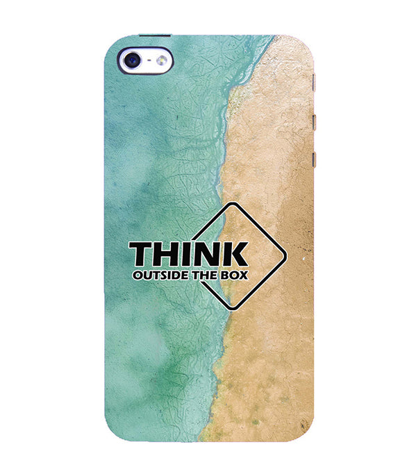 Think Outside The Box Back Cover for Apple iPhone 4 : 4S