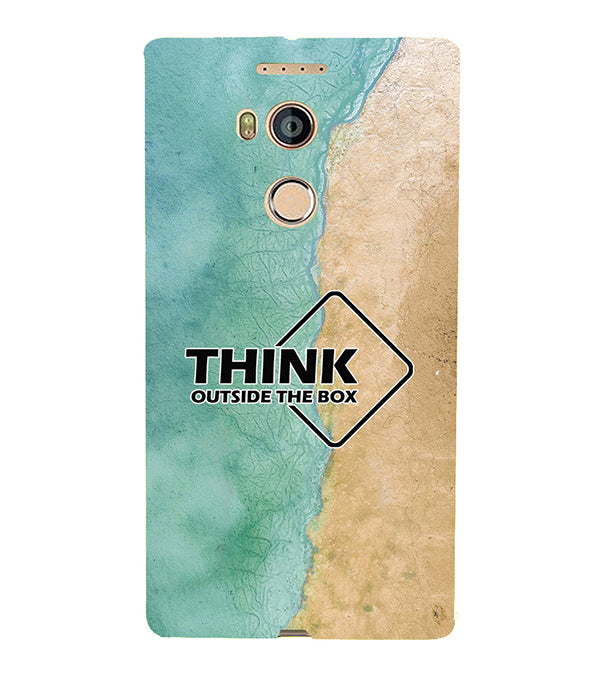 Think Outside The Box Back Cover for Gionee Elife E8