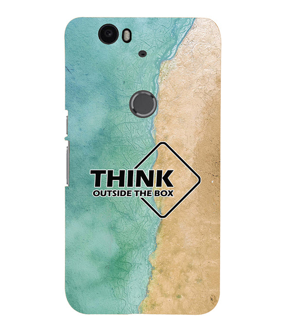 Think Outside The Box Back Cover for Google Nexus 6P