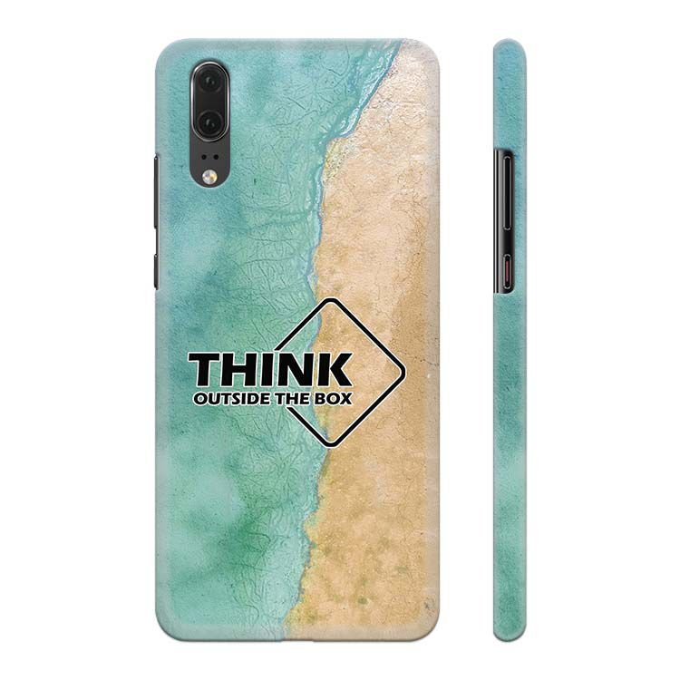 Think Outside The Box Back Cover for Huawei P20