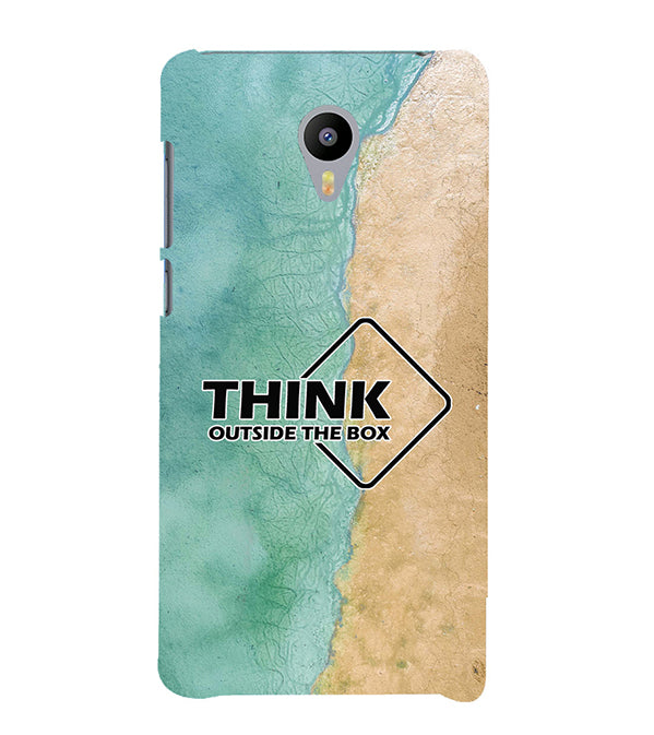 Think Outside The Box Back Cover for Meizu M3 Note
