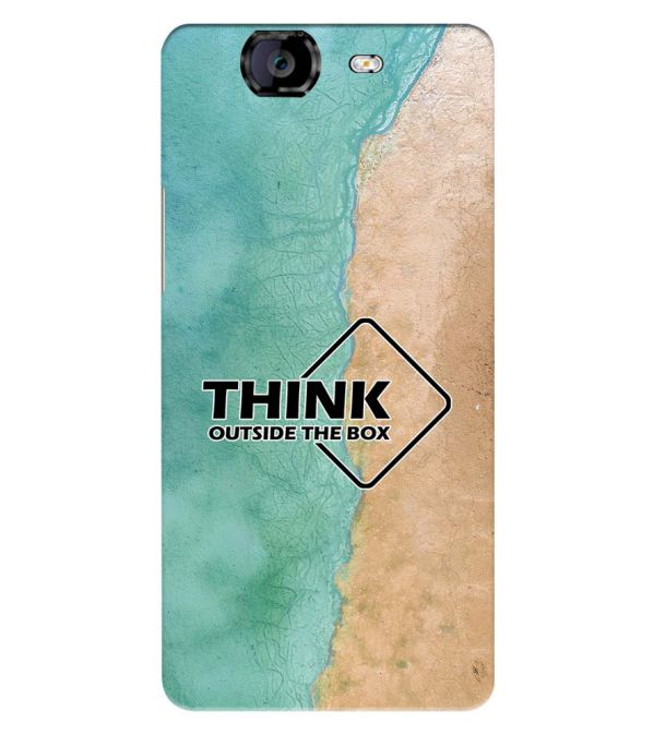 Think Outside The Box Back Cover for Micromax A350 Canvas Knight